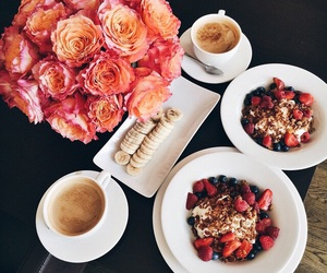 food, flowers, and breakfast image