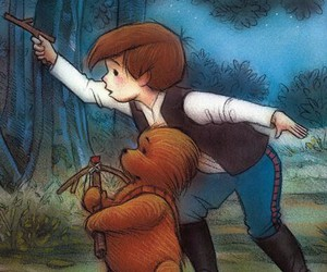 han solo, star wars, and winnie the pooh image