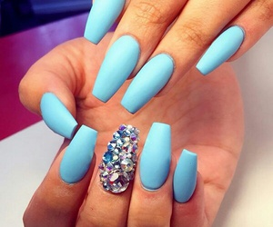 amazing, blue, and nails image