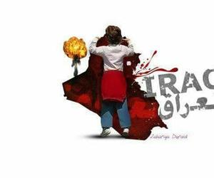 baghdad, bleeding, and iraq image