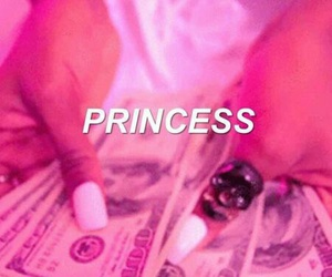 princess, money, and pink image