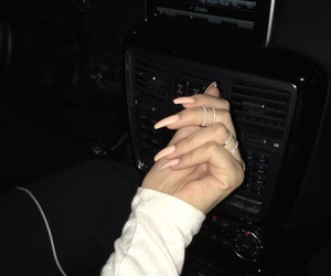 nails, dark, and night image