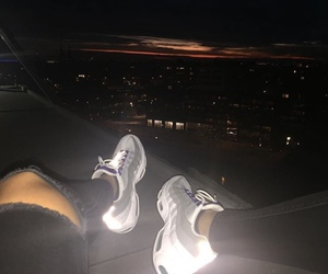 nike, light, and night image