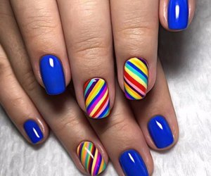 beach, colorful, and nails image