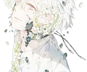 anime, clear, and flowers image
