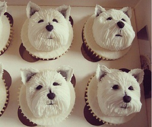 cupcake, dog, and food image