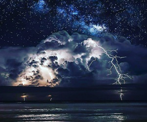 storm, night, and stars image