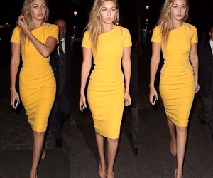 dress, yellow, and goals image