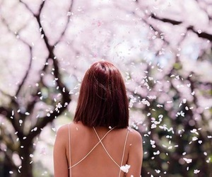 spring, flowers, and girl image