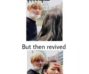 meme, v, and bts image