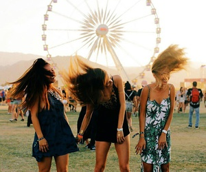 girl, coachella, and fun image