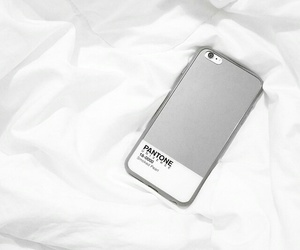iphone, white, and pantone image