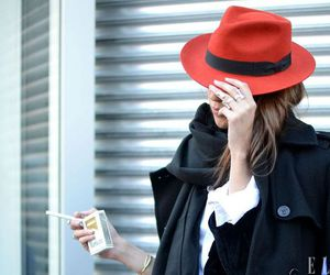 hat, fashion, and red image