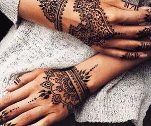 henna, tattoo, and hands image
