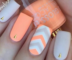 gray, orange, and nails image