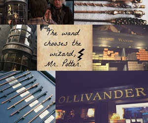 harry potter, magic wands, and ollivander image