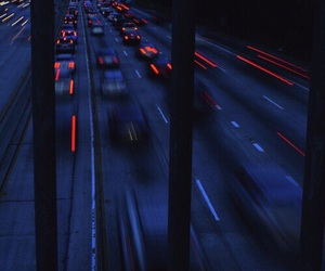 car, blue, and night image