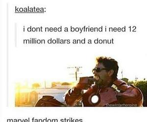 funny, Marvel, and iron man image
