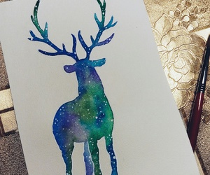 2016, deer, and drawing image
