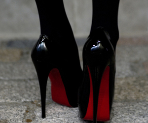 christian louboutin, patent leather, and louboutin image