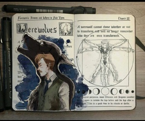 harry potter, werewolf, and art image