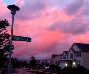 sky and street image