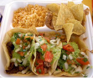 food, tacos, and rice image