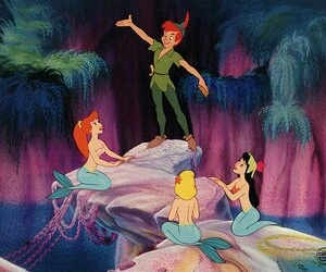peter pan, mermaid, and disney image