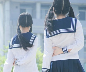 uniform, asian, and asian girls image