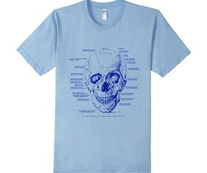 anatomy, skull, and tee image