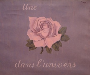 art, magritte, and rose image