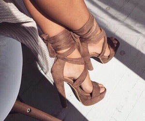 brown, sexy, and shoes image