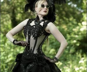 corset and gothic image