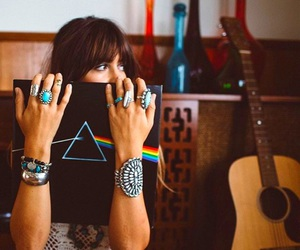 Pink Floyd, girl, and rock image