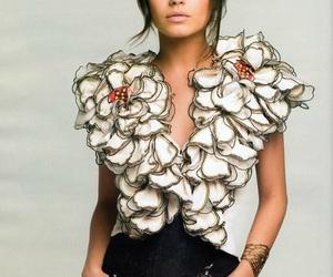 Mila Kunis, pretty, and flowers image