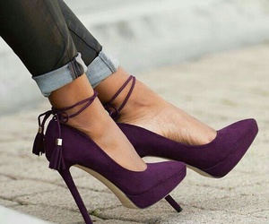 shoes, heels, and purple image
