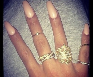 rings, nails, and fashion image