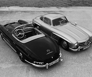 car, mercedes, and classic image