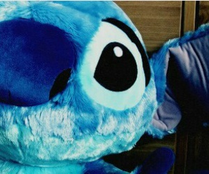 blue, stitch, and cartoons image