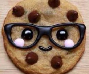 cookie, food, and glasses image