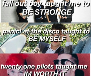 fall out boy, panic! at the disco, and twenty one pilots image