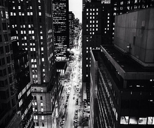 city, black and white, and wallpaper image