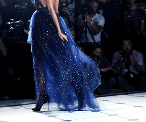 dress, model, and blue image