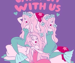 mermaid, pink, and mean girls image