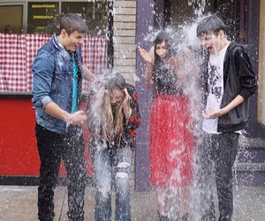sabrina carpenter, cory fogelmanis, and girl meets worls season 3 image