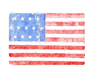 american flag, art, and fireworks image