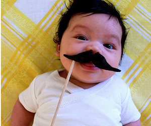 baby, mustache, and moustache image