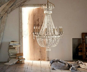 crystal, home decor, and crystal chandelier image
