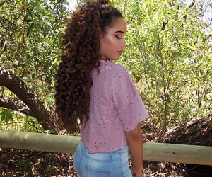 curls, curly, and fashion image