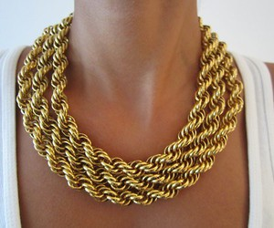 gold, fashion, and necklace image